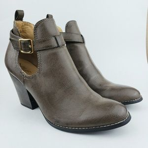Mia Taupe Heeled Ankle Boots Booties 11 M